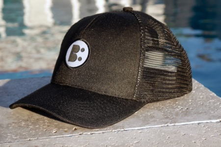 Breathable Poly Twill Trucker Mesh - Black