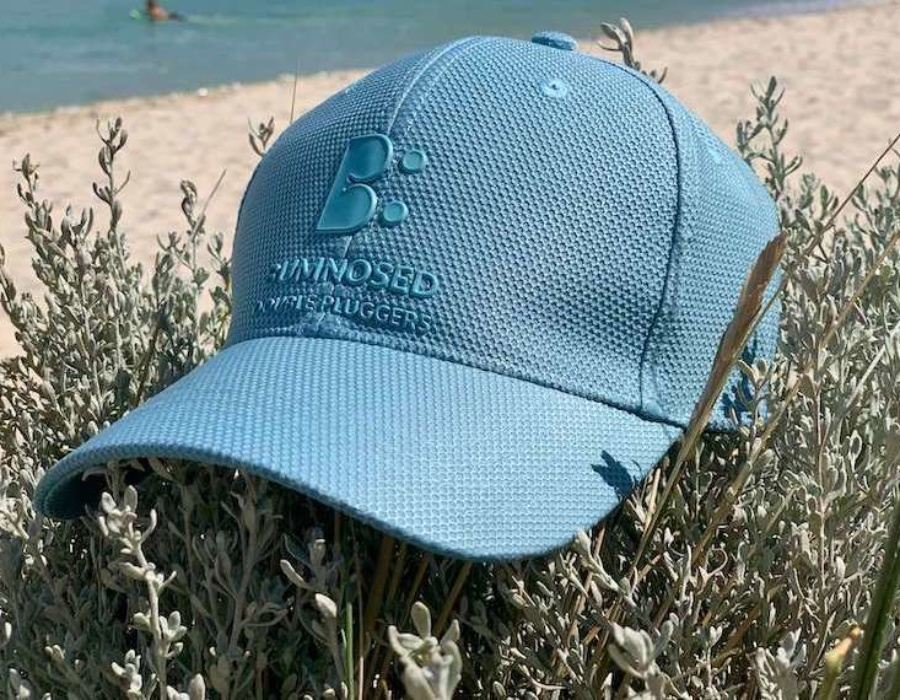 Honeycomb Weave Flexi Fit Cap - Lagoon Blue